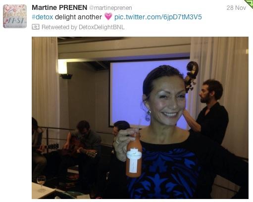 Auteur et présentatrice Martine Prenen