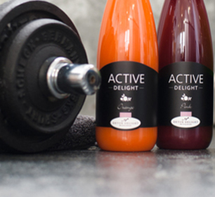 Detox Delight Active Delight Juices with barbell