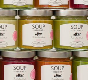 Detox Delight soup wall