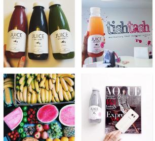 Detox Delight juices, fruit stand, vogue