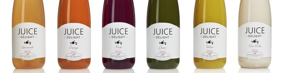Juice Delight bouteilles de jus pressés à froid