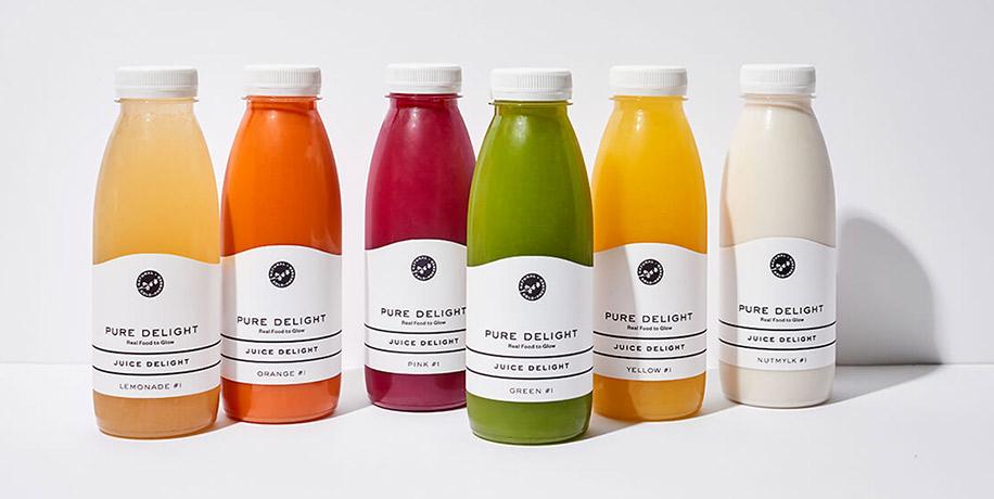 Pure Delight - Juice Delight Flaschen
