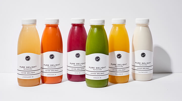 Pure Delight - Juice Delight Flaschen